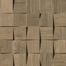 Плитка Axi Brown Chestnut Mosaico 3D 35х35