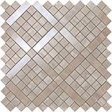 Плитка Marvel Pro Travertino Silver Diagonal Mosaic 30,5х30,5