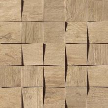 Плитка Axi Golden Oak Mosaico 3D 35х35