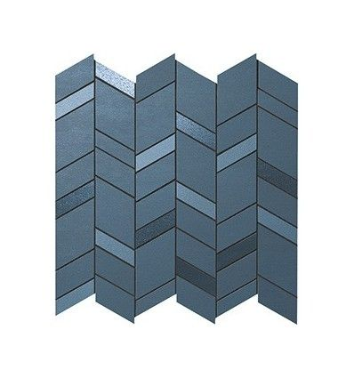 Плитка MEK Blue Mosaico Chevron Wall (9MCU) 30,5х30,5