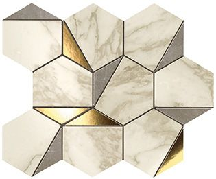 Плитка Marvel Edge Gold Hex Gris-Calacatta 25,1х29