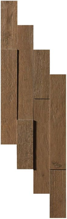 Плитка Axi Dark Oak Brick 3D 20х44