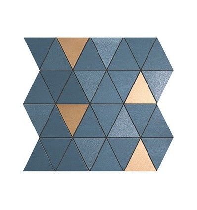MEK Blue Mosaico Diamond Gold Wall (9MDU)