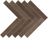 Dwell Brown Leather Herringbone