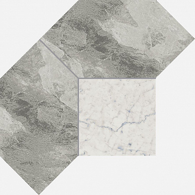 Плитка Charme Extra Silver Mosaico Polygon.5  21x28.5