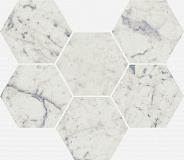Charme Extra Carrara Mosaico Hexagon