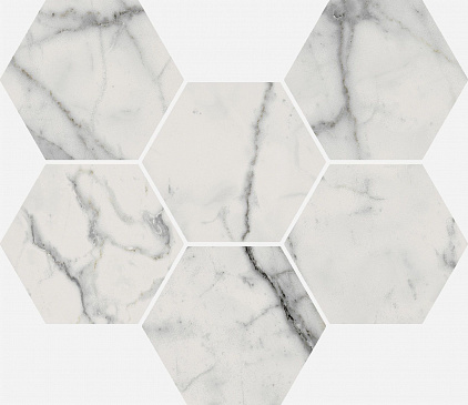 Плитка Charme Evo Statuario Mosaico Hexagon  25x29