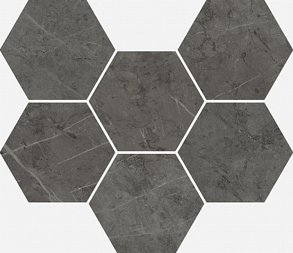 Плитка Charme Evo Antracite Mosaico Hexagon  25x29